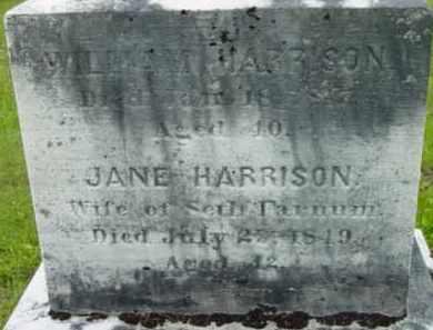 HARRISON FARNUM, JANE - Berkshire County, Massachusetts | JANE HARRISON FARNUM - Massachusetts Gravestone Photos