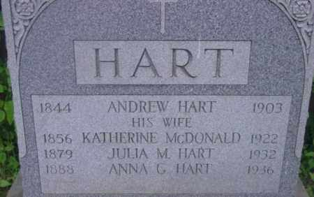 HART, JULIA M - Berkshire County, Massachusetts | JULIA M HART - Massachusetts Gravestone Photos