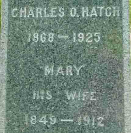 HATCH, CHARLES O - Berkshire County, Massachusetts | CHARLES O HATCH - Massachusetts Gravestone Photos