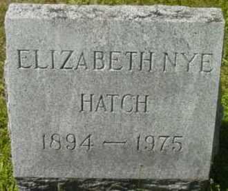 HATCH, ELIZABETH - Berkshire County, Massachusetts | ELIZABETH HATCH - Massachusetts Gravestone Photos