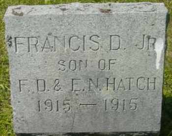 HATCH, FRANCIS D - Berkshire County, Massachusetts | FRANCIS D HATCH - Massachusetts Gravestone Photos