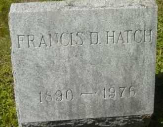 HATCH, FRANCIS D - Berkshire County, Massachusetts   FRANCIS D HATCH - Massachusetts Gravestone Photos