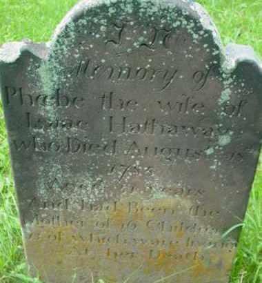 HATHAWAY, PHOEBE - Berkshire County, Massachusetts | PHOEBE HATHAWAY - Massachusetts Gravestone Photos