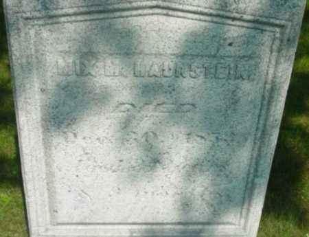 HAUNSTEIN, MIX M - Berkshire County, Massachusetts   MIX M HAUNSTEIN - Massachusetts Gravestone Photos