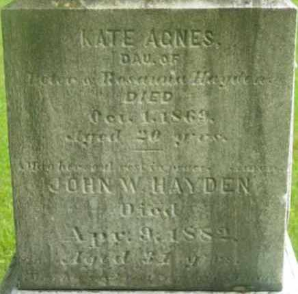 HAYDEN, JOHN W - Berkshire County, Massachusetts | JOHN W HAYDEN - Massachusetts Gravestone Photos