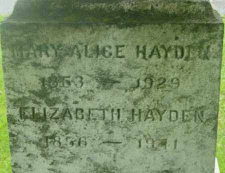 HAYDEN, MARY ALICE - Berkshire County, Massachusetts | MARY ALICE HAYDEN - Massachusetts Gravestone Photos