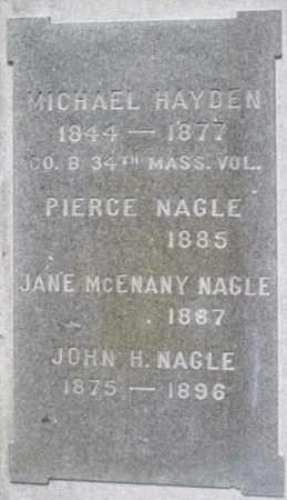 NAGLE, JANE - Berkshire County, Massachusetts | JANE NAGLE - Massachusetts Gravestone Photos