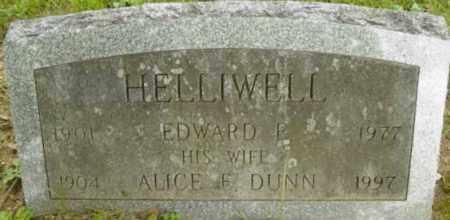 DUNN HELLIWELL, ALICE E - Berkshire County, Massachusetts | ALICE E DUNN HELLIWELL - Massachusetts Gravestone Photos