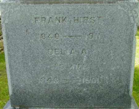 HIRST, DELIA A - Berkshire County, Massachusetts | DELIA A HIRST - Massachusetts Gravestone Photos