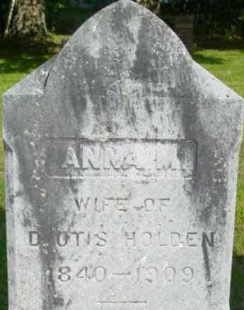 HOLDEN, ANNA M - Berkshire County, Massachusetts | ANNA M HOLDEN - Massachusetts Gravestone Photos