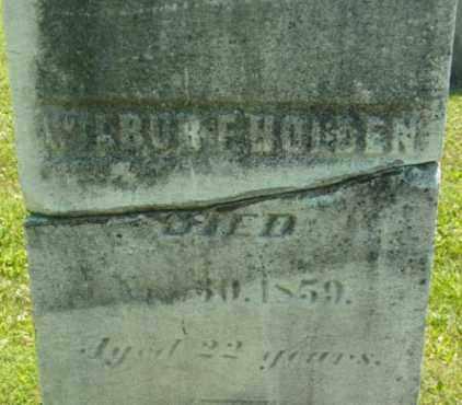 HOLDEN, WILBURT - Berkshire County, Massachusetts   WILBURT HOLDEN - Massachusetts Gravestone Photos