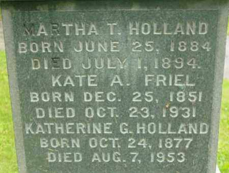 FRIEL HOLLAND, MARY A - Berkshire County, Massachusetts | MARY A FRIEL HOLLAND - Massachusetts Gravestone Photos