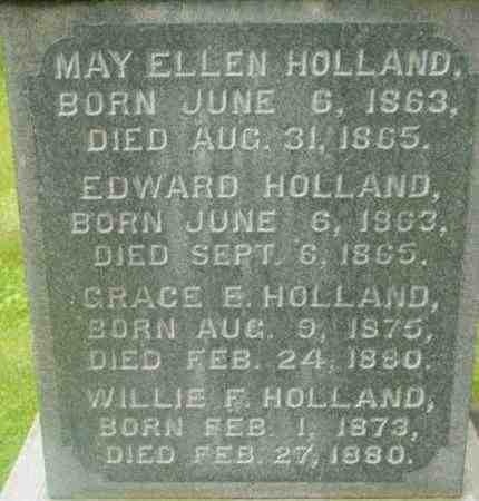 HOLLAND, MAY ELLEN - Berkshire County, Massachusetts | MAY ELLEN HOLLAND - Massachusetts Gravestone Photos