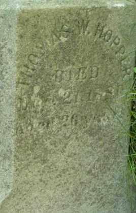 HOPPER, THOMAS W. - Berkshire County, Massachusetts   THOMAS W. HOPPER - Massachusetts Gravestone Photos