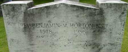 HORTON, BENJAMIN M - Berkshire County, Massachusetts | BENJAMIN M HORTON - Massachusetts Gravestone Photos