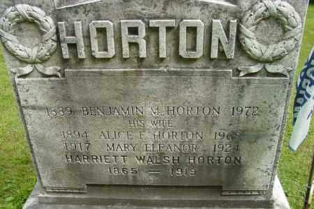 WALSH HORTON, HARRIETT - Berkshire County, Massachusetts | HARRIETT WALSH HORTON - Massachusetts Gravestone Photos