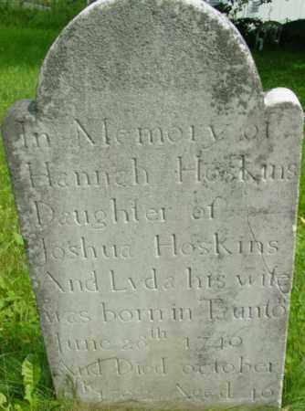 HOSKINS, HANNAH - Berkshire County, Massachusetts | HANNAH HOSKINS - Massachusetts Gravestone Photos