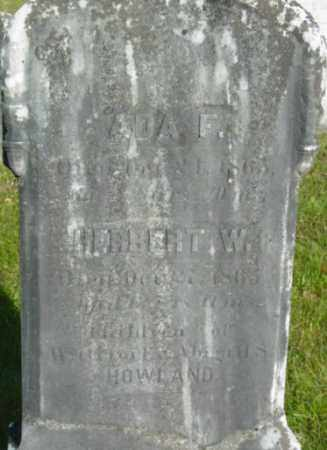 HOWLAND, ADA F - Berkshire County, Massachusetts   ADA F HOWLAND - Massachusetts Gravestone Photos