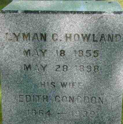 HOWLAND, LYMAN C - Berkshire County, Massachusetts | LYMAN C HOWLAND - Massachusetts Gravestone Photos