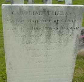 HUBBELL, CAROLINE THERESA - Berkshire County, Massachusetts | CAROLINE THERESA HUBBELL - Massachusetts Gravestone Photos