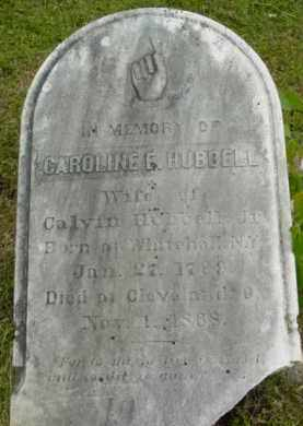 HUBBELL, CAROLINE E - Berkshire County, Massachusetts   CAROLINE E HUBBELL - Massachusetts Gravestone Photos