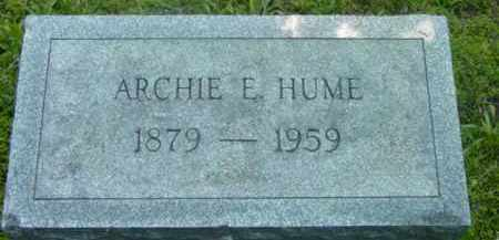 HUME, ARCHIE E - Berkshire County, Massachusetts   ARCHIE E HUME - Massachusetts Gravestone Photos