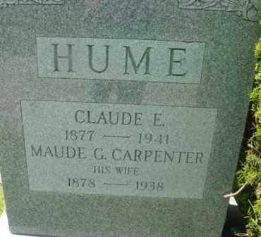 HUME, MAUDE G - Berkshire County, Massachusetts | MAUDE G HUME - Massachusetts Gravestone Photos