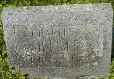 HUME, CHARLES R - Berkshire County, Massachusetts | CHARLES R HUME - Massachusetts Gravestone Photos