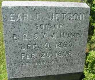 HUME, EARLE JETSON - Berkshire County, Massachusetts   EARLE JETSON HUME - Massachusetts Gravestone Photos