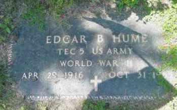 HUME, EDGAR B - Berkshire County, Massachusetts   EDGAR B HUME - Massachusetts Gravestone Photos