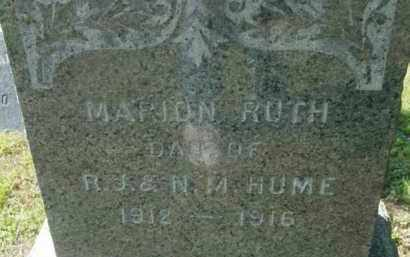 HUME, MARION RUTH - Berkshire County, Massachusetts | MARION RUTH HUME - Massachusetts Gravestone Photos