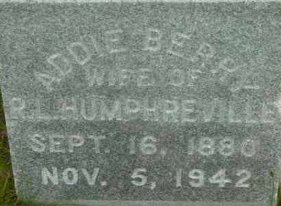 HUMPHREVILLE, ADDIE - Berkshire County, Massachusetts | ADDIE HUMPHREVILLE - Massachusetts Gravestone Photos