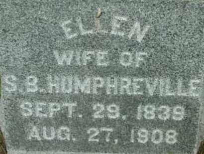 HUMPHREVILLE, ELLEN - Berkshire County, Massachusetts | ELLEN HUMPHREVILLE - Massachusetts Gravestone Photos