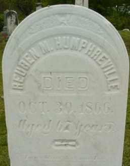 HUMPHREVILLE, REUBEN M - Berkshire County, Massachusetts | REUBEN M HUMPHREVILLE - Massachusetts Gravestone Photos