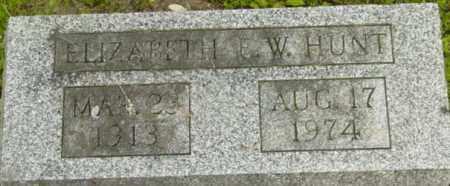 HUNT, ELIZABETH F W - Berkshire County, Massachusetts | ELIZABETH F W HUNT - Massachusetts Gravestone Photos