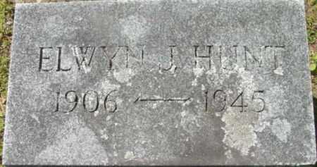 HUNT, ELWYN J - Berkshire County, Massachusetts | ELWYN J HUNT - Massachusetts Gravestone Photos