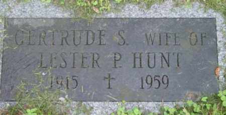 HUNT, GERTRUDE S - Berkshire County, Massachusetts | GERTRUDE S HUNT - Massachusetts Gravestone Photos