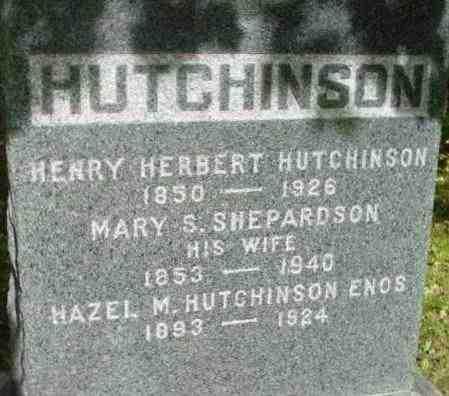 HUTCHINSON, MARY S - Berkshire County, Massachusetts | MARY S HUTCHINSON - Massachusetts Gravestone Photos