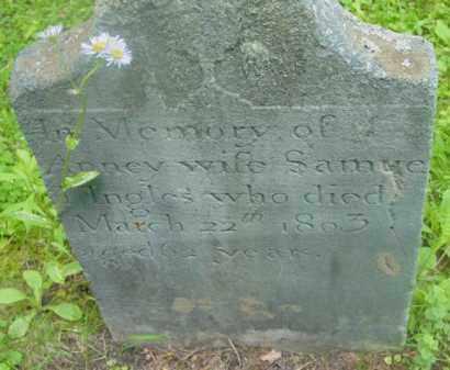 INGLES, ANNEY - Berkshire County, Massachusetts   ANNEY INGLES - Massachusetts Gravestone Photos