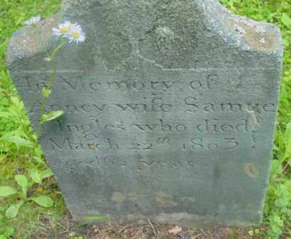 INGLES, ANNEY - Berkshire County, Massachusetts | ANNEY INGLES - Massachusetts Gravestone Photos