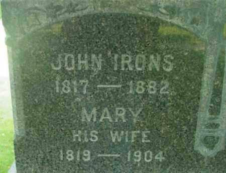 IRONS, JOHN - Berkshire County, Massachusetts   JOHN IRONS - Massachusetts Gravestone Photos
