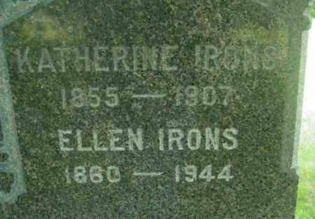 IRONS, KATHERINE - Berkshire County, Massachusetts | KATHERINE IRONS - Massachusetts Gravestone Photos