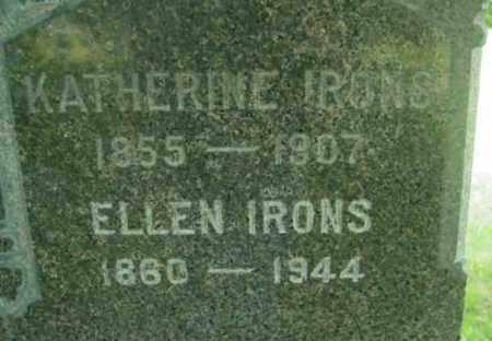 IRONS, ELLEN - Berkshire County, Massachusetts | ELLEN IRONS - Massachusetts Gravestone Photos