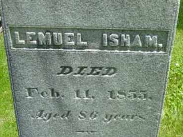 ISHAM, LEMUEL - Berkshire County, Massachusetts | LEMUEL ISHAM - Massachusetts Gravestone Photos