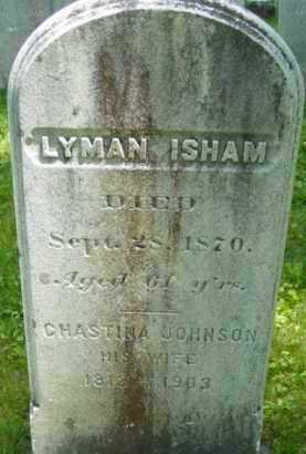 JOHNSON ISHAM, CHASTINA - Berkshire County, Massachusetts | CHASTINA JOHNSON ISHAM - Massachusetts Gravestone Photos