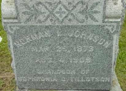 JOHNSON, NORMAN L - Berkshire County, Massachusetts   NORMAN L JOHNSON - Massachusetts Gravestone Photos