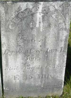 JUDD, GEORGE H - Berkshire County, Massachusetts   GEORGE H JUDD - Massachusetts Gravestone Photos