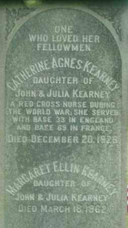 KEARNEY, CATHERINE AGNES - Berkshire County, Massachusetts | CATHERINE AGNES KEARNEY - Massachusetts Gravestone Photos