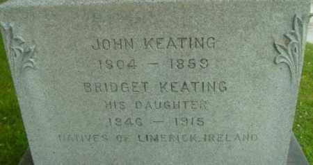 KEATING, BRIDGET - Berkshire County, Massachusetts | BRIDGET KEATING - Massachusetts Gravestone Photos