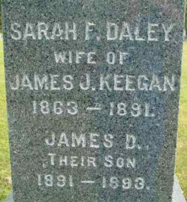 KEEGAN, SARAH F - Berkshire County, Massachusetts | SARAH F KEEGAN - Massachusetts Gravestone Photos